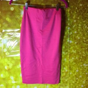 Dresses & Skirts - Hot pink pencil skirt